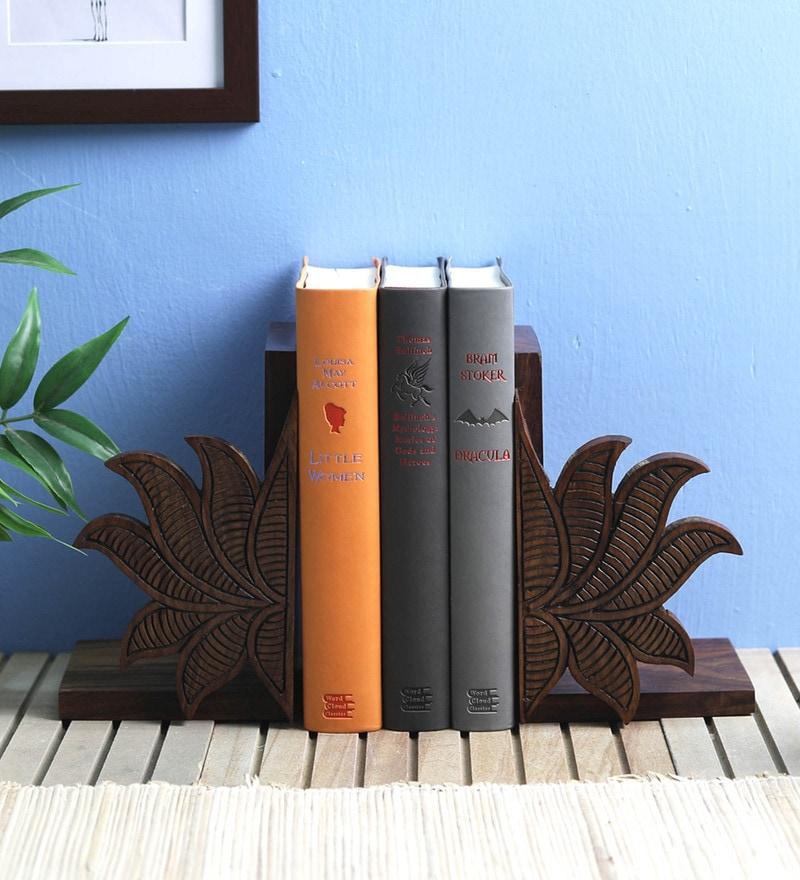 VarEesha Lotus Sheesham Wood Book End