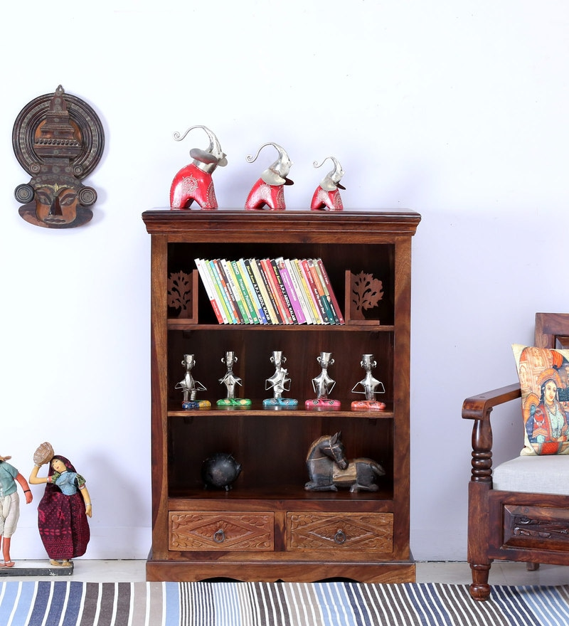 Vayaka Book Shelf in Provincial Teak Finish by Mudramark