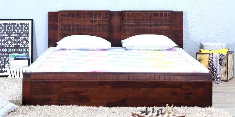 Verkko Solidwood King Bed in Warm Rich Finish by Woodsworth