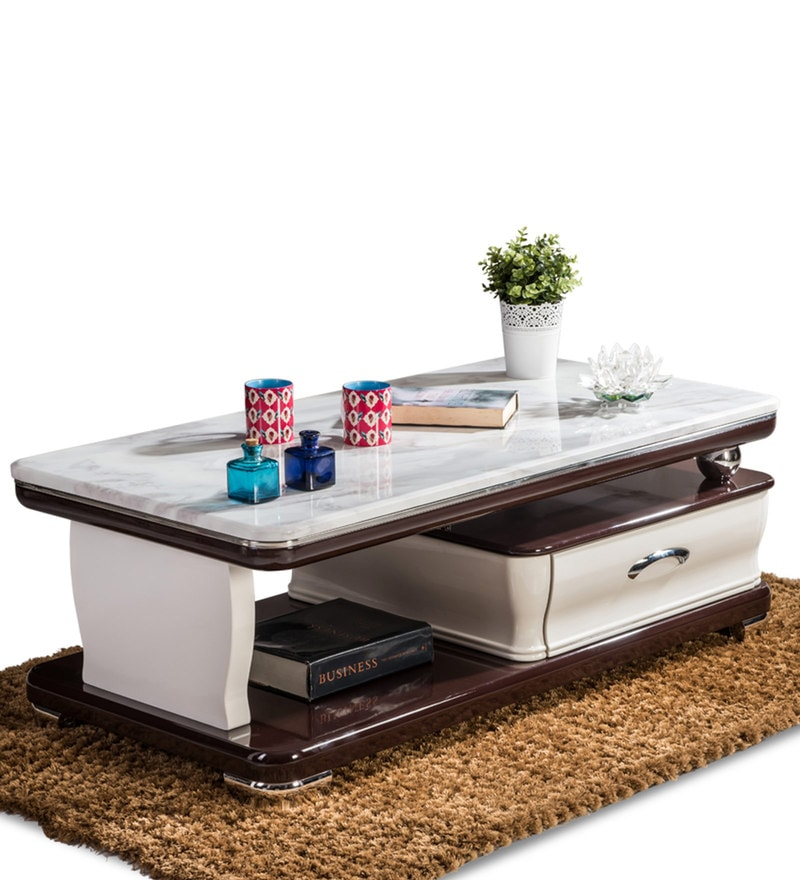 Marble Coffee Table Online: Buy Vega Center Table With Marble Top By Durian Online
