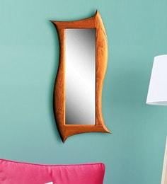 Viso Prince's Verticle Teak Mirror Frame In Natural Brown