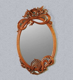 Viso Queen's Collection Teak Mirror Frame In Natural Brown