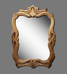 Viso Viking's Collection Teak Mirror Frame In Natural Brown - 1704638