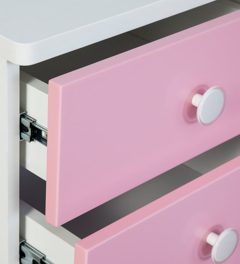 Buy Victoria Bed Side Table in Pink and White Colour by Alex Daisy ...