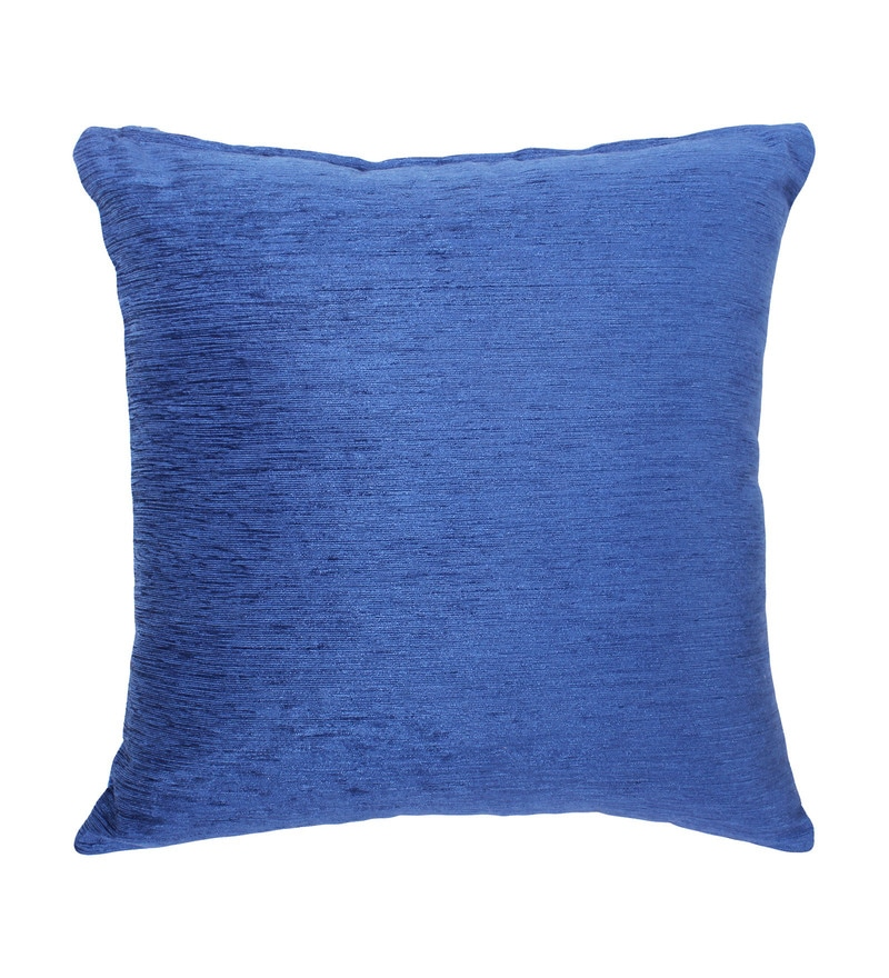 Blue Chenille 16 x 16 Inch Cushion Cover by Vista
