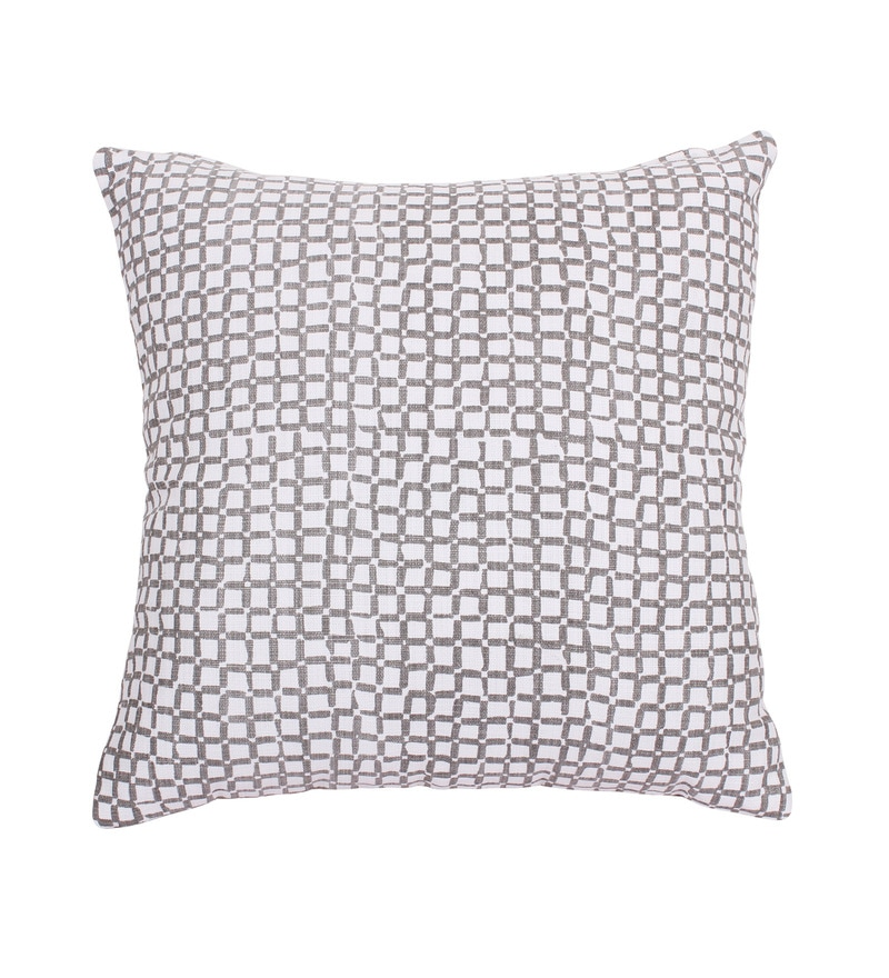 Grey Cotton 16 x 16 Inch Cushion Cover by Vista
