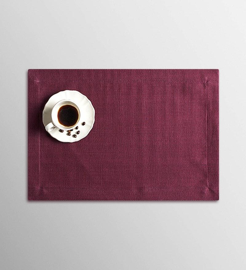 Vista Home Fashion Burgundy Cotton & Polyester Placemats