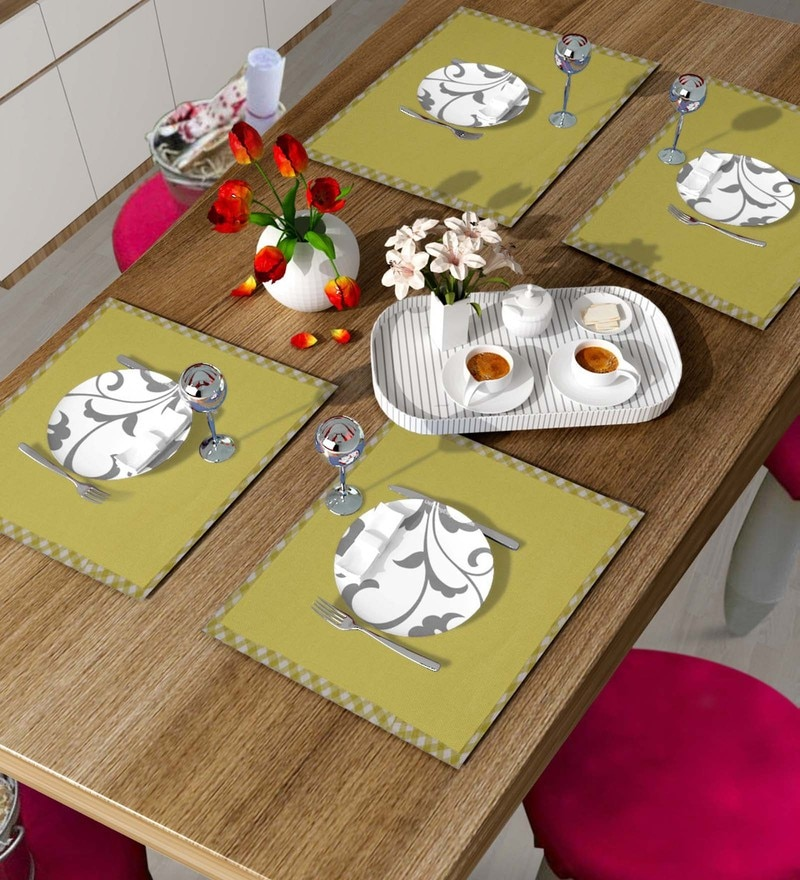 Vista Home Fashion Green Cotton & Polyester Placemats