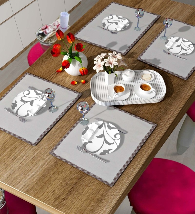 Vista Home Fashion Off White Cotton & Polyester Placemats