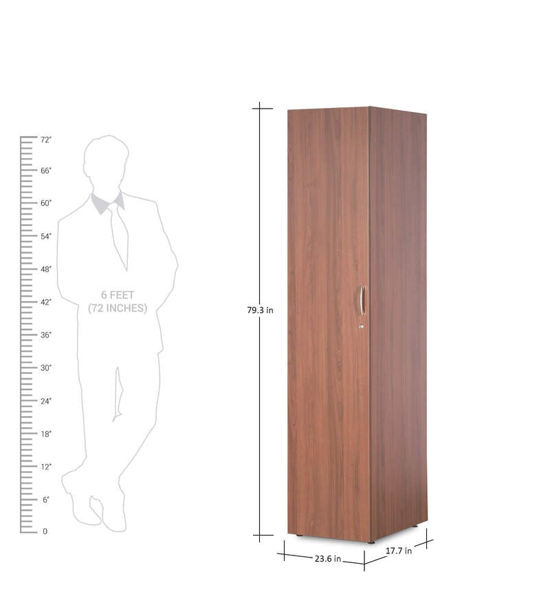 Buy Viva Single Door Wardrobe Cincinnati Walnut Finish By