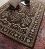 Vikram Carpets Brown Wool & Viscose 90 x 64 Inch Hand Tufted Carpet