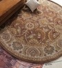 Brown Wool 96 Inch Hand Tufted Carpet by Vikram Carpets
