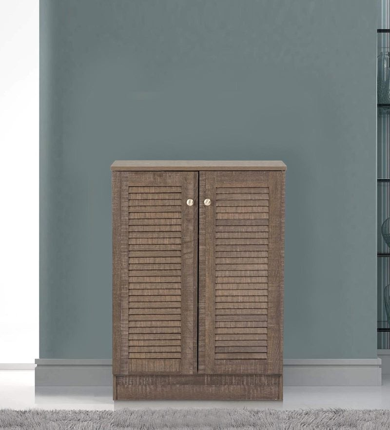 Wakana Two Door Shoe Cabinet in Wenge Finish by Mintwud