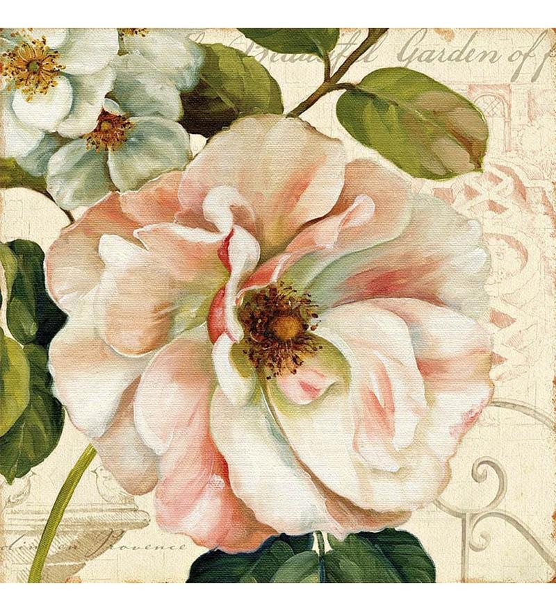 Canvas 24 x 24 Inch Floral Framed Digital Art Print by Wall Decor