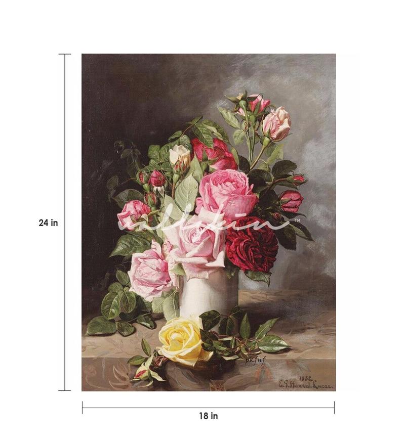 Buy Wall Skin Canvas 18 x 24 Inch The Vintage Flowers Framed Digital ...