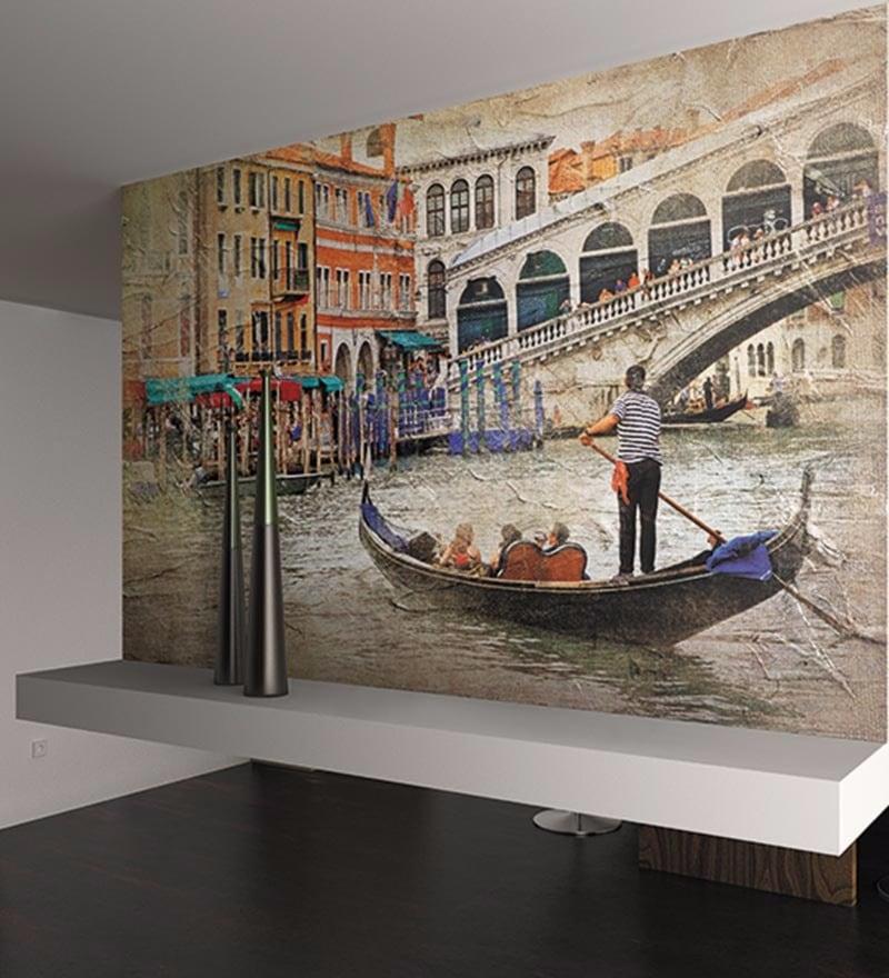 Grey Non Woven Paper Beautiful Venice Wallpaper by Wallskin