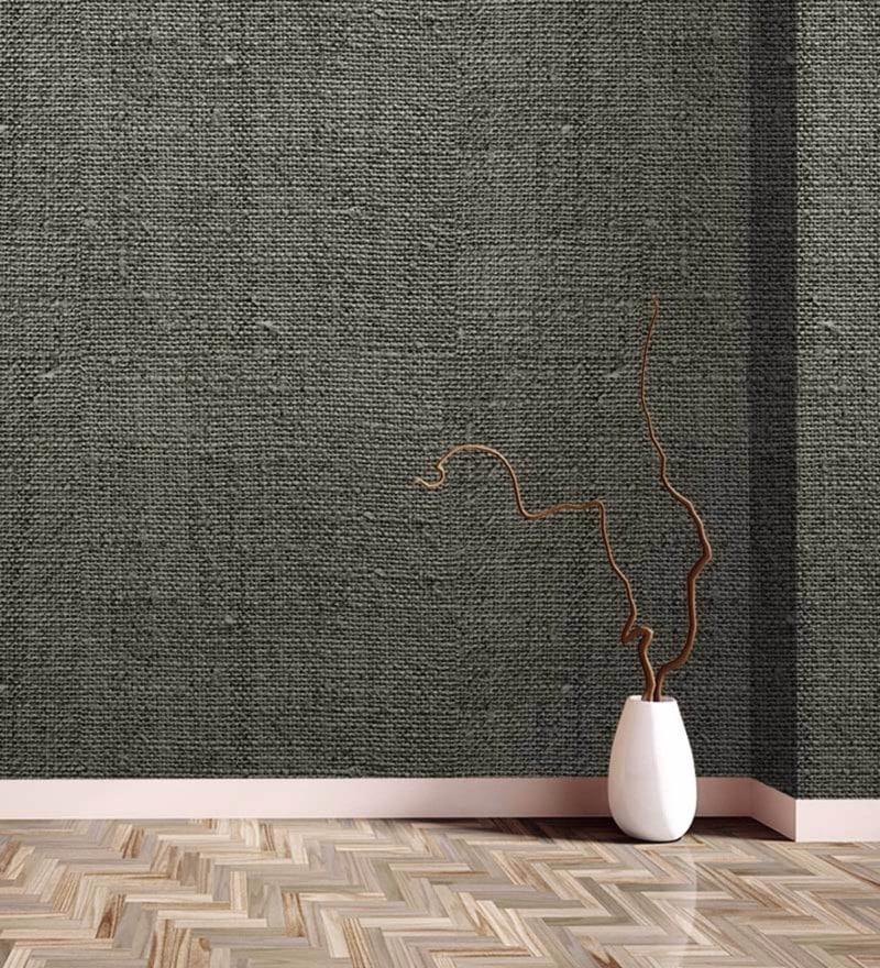 Grey Non Woven Paper Wallpaper by Wallskin