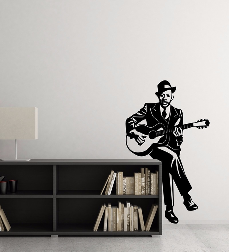 Vinyl Man Playing Guitar Wall Decal by Wallskin