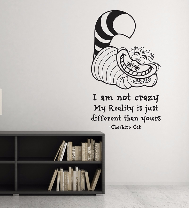 Vinyl The Crazy Cat Wall Decal by Wallskin