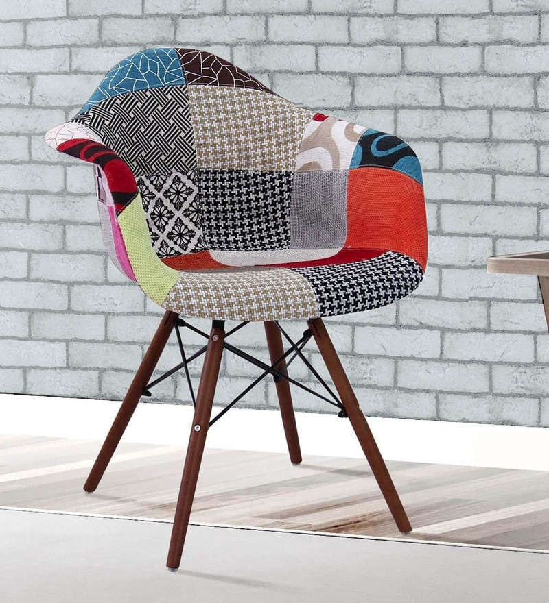 Warren Accent Chair with Patchwork in Multicolour by Bohemiana