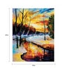 Canvas 18 x 24 Inch River By The Forest Framed Digital Art Print by Wall Skin