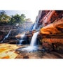 Hashtag Decor Waterfall and Mountain Engineered Wood 30 x 20 Inch Framed Art Panel