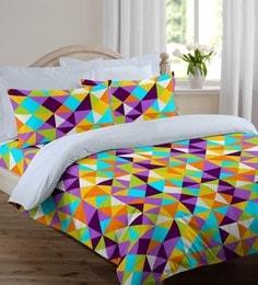 Welhome Purple Cotton Rich 90 X 108 Inch Snapshot Double Comforter