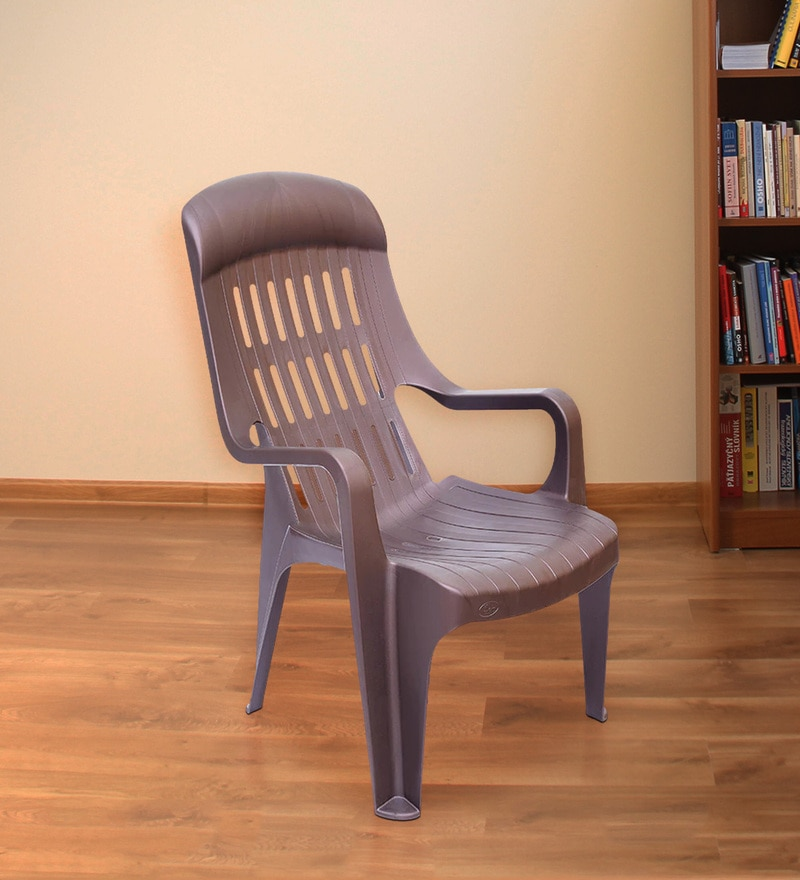 Weekender Plastic Chair in Brown Colour by Nilkamal