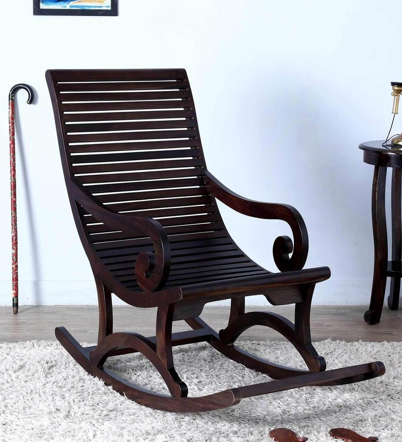 Wellesley Rocking Chair in Warm Chestnut Finish by Amberville