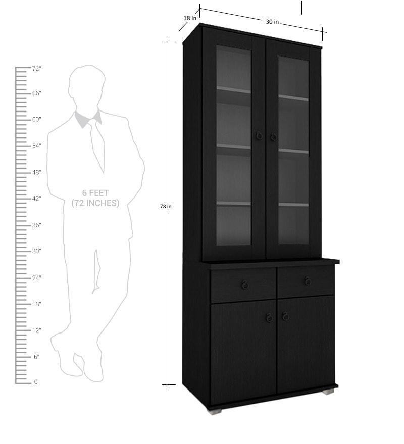 Buy Kitchen Furniture Online: Buy Wendy 2 Door Kitchen Cabinet In Wenge Finish By
