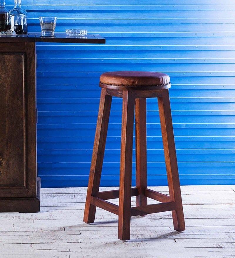 Weston Stool in Honey Oak Finish by Woodsworth