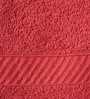 Red Cotton Towel - Set of 4 by Welhome