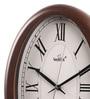 Brown Glass & MDF 10.3 x 1.5 x 13.5 Inch Wall Clock by Wertex