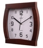 Brown Glass & MDF 11.5 x 1.5 x 11.5 Inch Wall Clock by Wertex