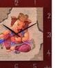 Multicolour Glass & MDF 12 x 1.5 x 12 Inch Wall Clock by Wertex
