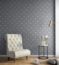 White Grey Hy Hearts Wallpaper Nilaya Wall Coverings