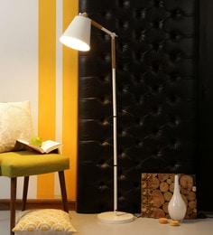 White Iron Floor Lamp