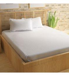 White King Size Bed Sheet Set ...