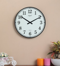 White Plastic World's Slimmest Clock With Luminous Dial & Bold Arabic Numbers