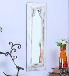 White Wood Minaret Frame Mirror