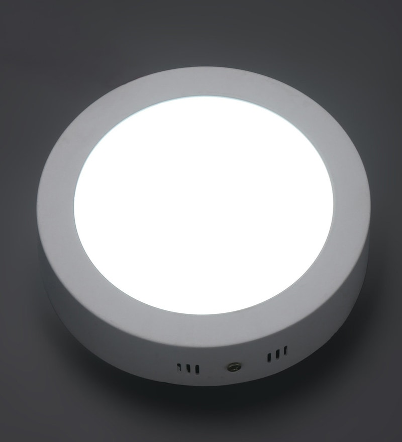 White 12W Aluminium Recessed Light by Patco Electricals