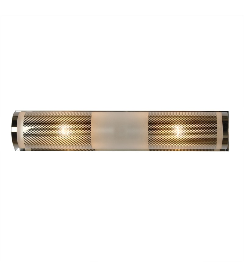 White Glass & Metal Wall Light by The Light Store