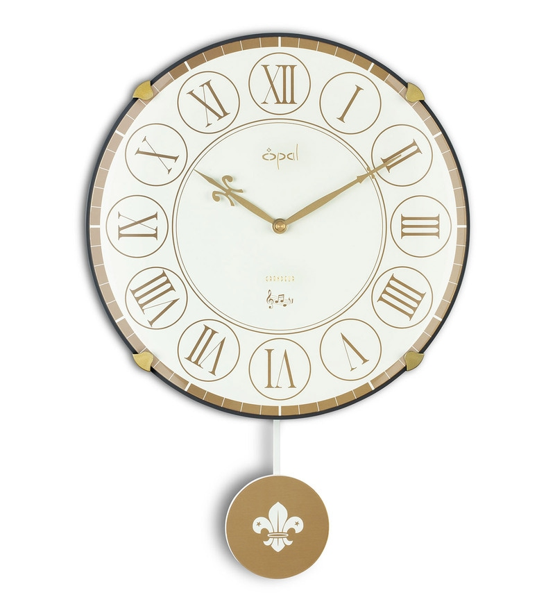 white plastic 12 inch roman figures wall clock by opal - Designer Wall Clocks Online