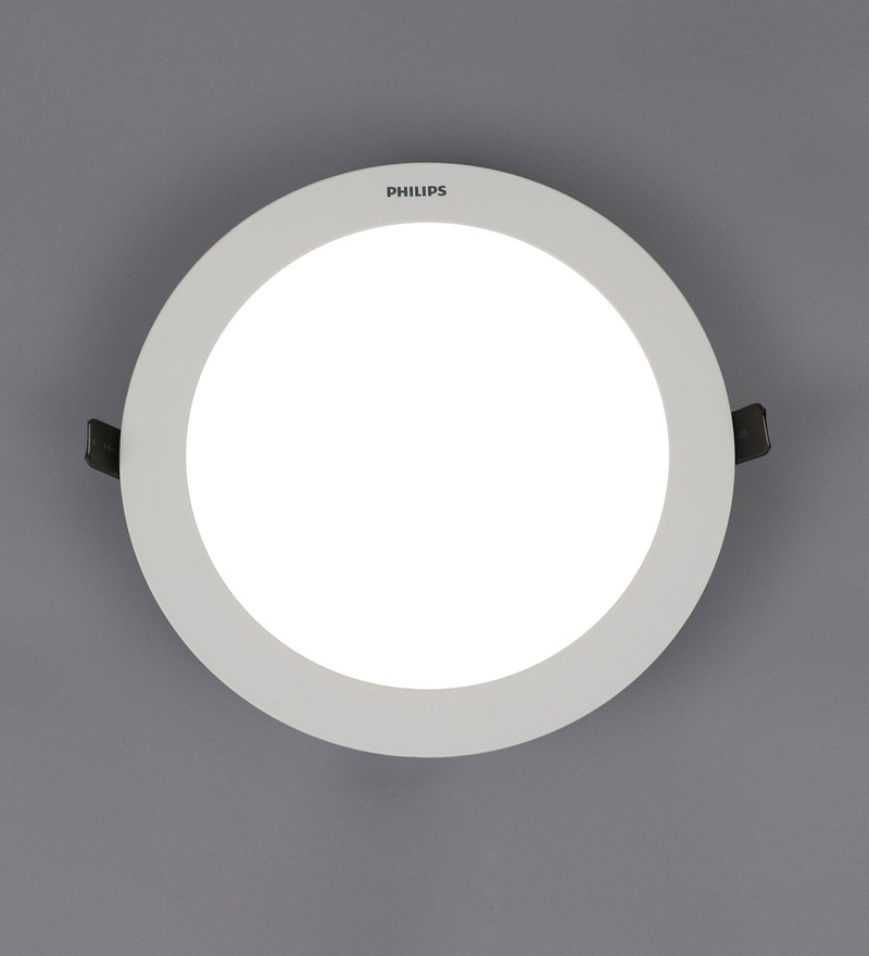 White Plastic Astra Prime 15 W Recessed Ceiling Light by Philips