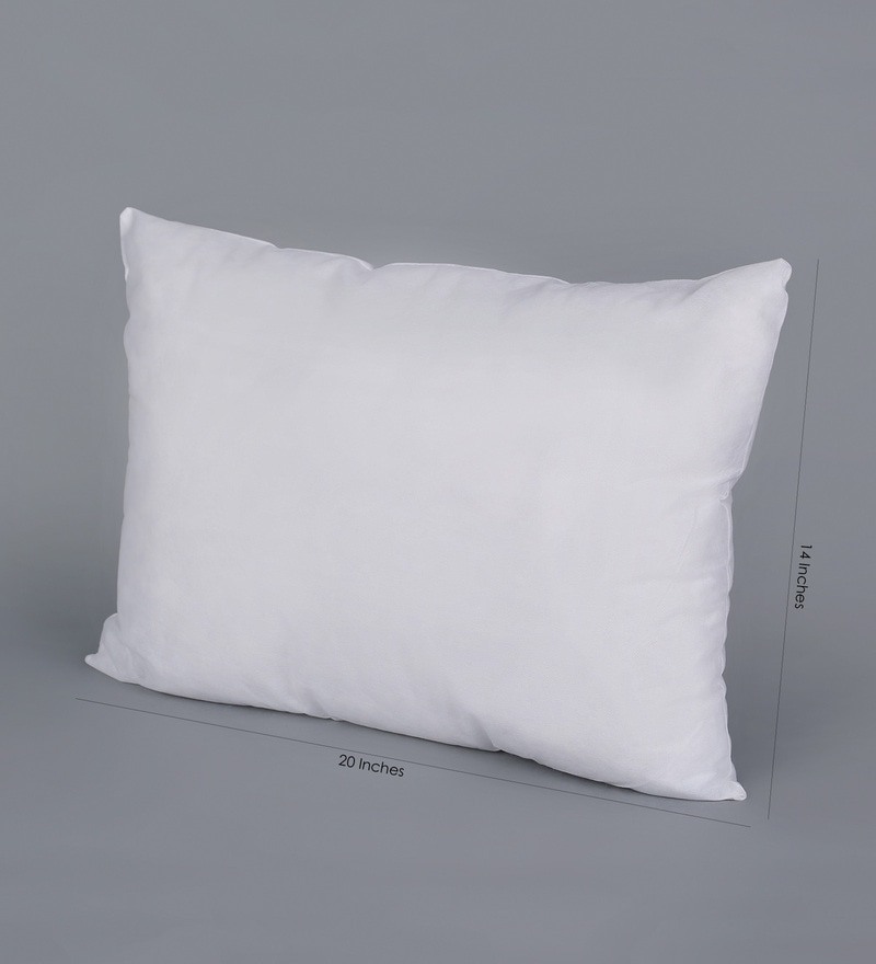 Buy White Polyester 14 X 20 Inch Pillows Set Of 2 By