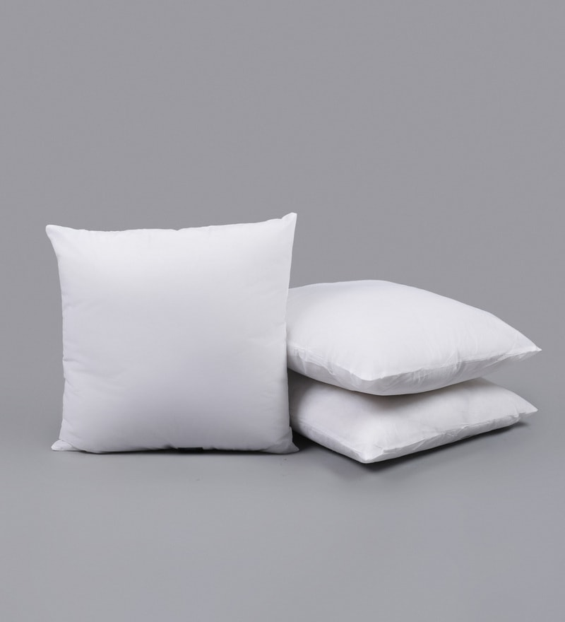 White Polyester 24 x 24 Inch Non Woven Cushion Filler - Set of 3 by SWHF