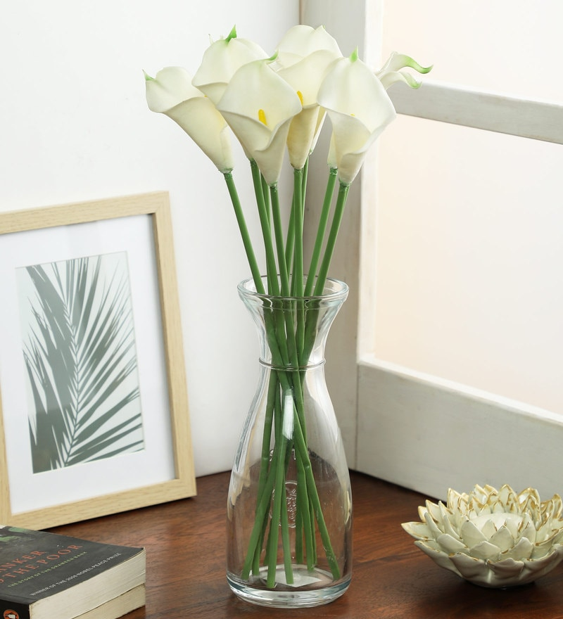 Buy White Artificial Lotus Flower Set By Pollination Online