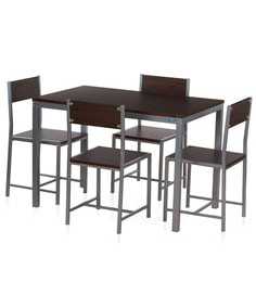 Wigo Four Seater Dining Set in Walnut Finish by Nilkamal at pepperfry
