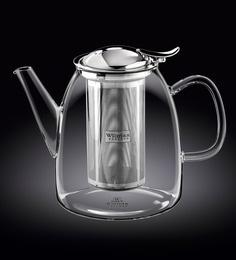 Wilmaxengland Thermal Glass Tea Pot 34 Oz -1000 Ml