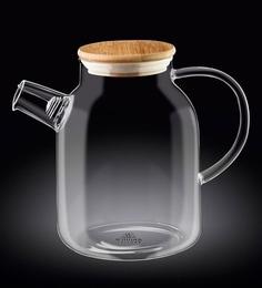 Wilmaxengland Thermal Glass Tea Pot 57 Oz -1700 Ml